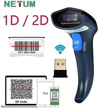 Original Netum Wireless 1D Barcode Scanner Screen Mobile Payment Bar Code Reader
