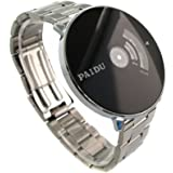 Youyoupifa Fashion Sliver Strap Quartz Watch With Black Dial