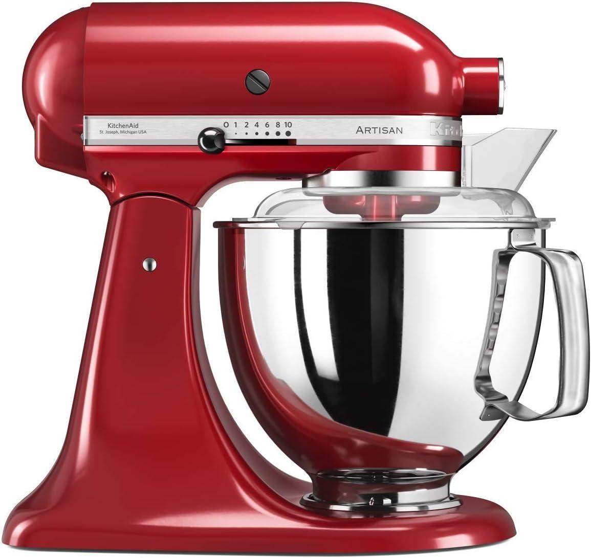 KitchenAid Artisan 5KSM175PS Robot de cocina (4,8 L, Rojo, palanca, 220 RPM, Acero inoxidable, 300 W)