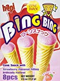 Hapi Bing Bing Cone Snack with Strawberry Flavored Filling, 2.51 Ounce