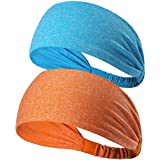 Calbeing Moisture Wicking Headband for Womens - Workout Sweat band, Soft, Comfortable, Perfect for Working