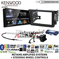 Kenwood DDX9904S Double Din Radio Install Kit with Apple CarPlay Android Auto Bluetooth Fits 2012-2014 Volkswagen Beetle, 2010-2014 Golf, 2006-2015 Jetta