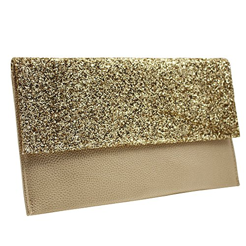 Faux UK Wocharm Champagne Bag Clutch Gold Ladies HandBags Womens Handbag Purse Leather Party Luxury Envelope Evening Seller ffq4Fg