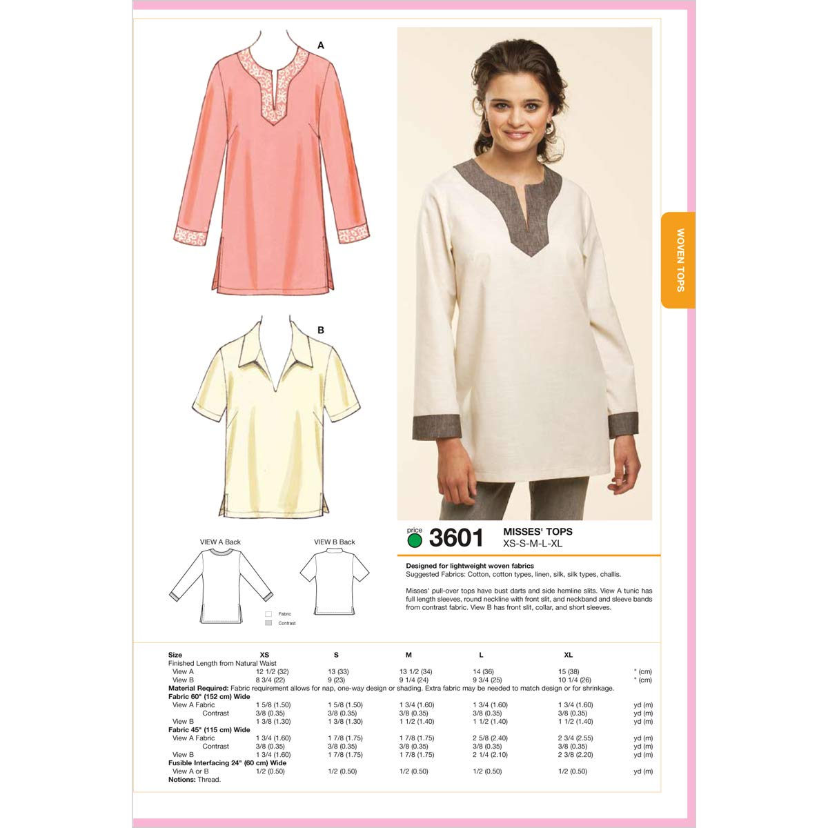 Amazon.com: Kwik Sew K3601 Pull-Over Tops Sewing Pattern, Size XS ...