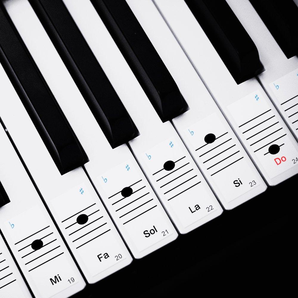 Faburo 2pcs Pegatinas Para Notas musicales transparentes Etiquetas ...