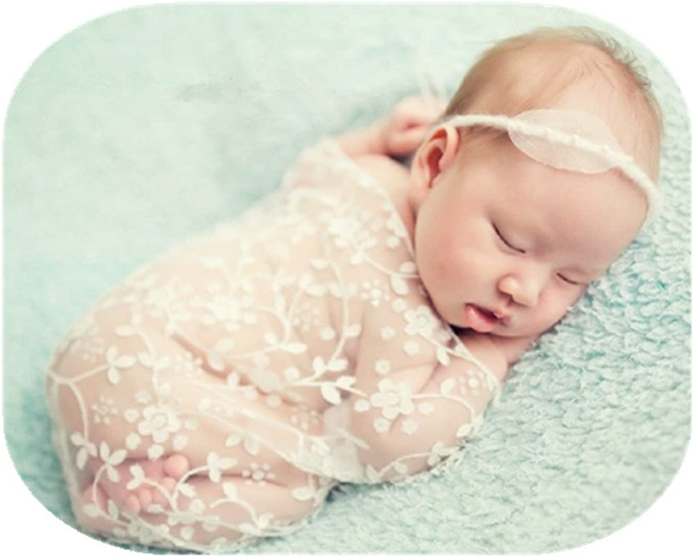 Newborn Baby Stretch Wrap Infant Boys Girls Photography Photo Prop Lace Blanket