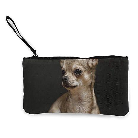 Amazon.com: Monedero de chihuahua para perros, lona con ...