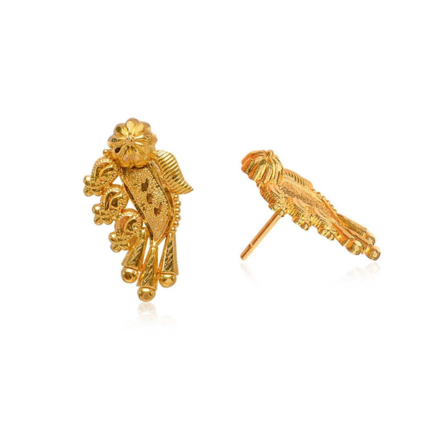 Buy Senco Gold 22k (916) Yellow Gold Stud Earrings Online at Low ...