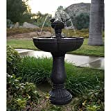 Serena Rechargeable, Programmable, Durable, Dancing Waters Cordless Fountain- Features computer controlled water and four white LED spotlights