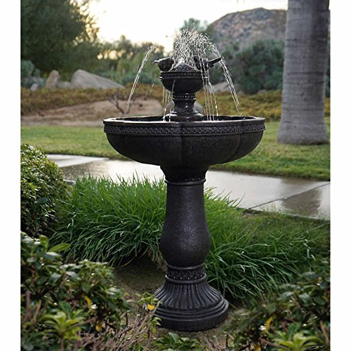Serena Rechargeable, Programmable, Durable, Dancing Waters Cordless Fountain- Features computer controlled water and four white LED spotlights by Serena