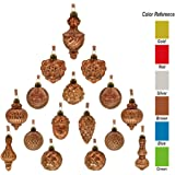 youseexmas Antique Mercury Glass Christmas Ornaments Pack of 16 (Brown)