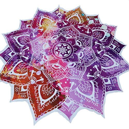 Amiley Bohemian Mandala Wall Hanging Tapestry Wall Hanging Bedspread Beach Towel