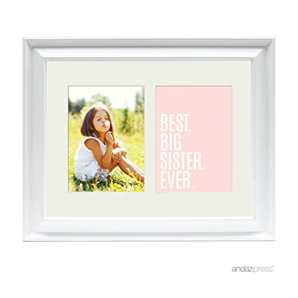 Amazon.com - Andaz Press Double White 5x7-inch Photo Frame, Best Big ...