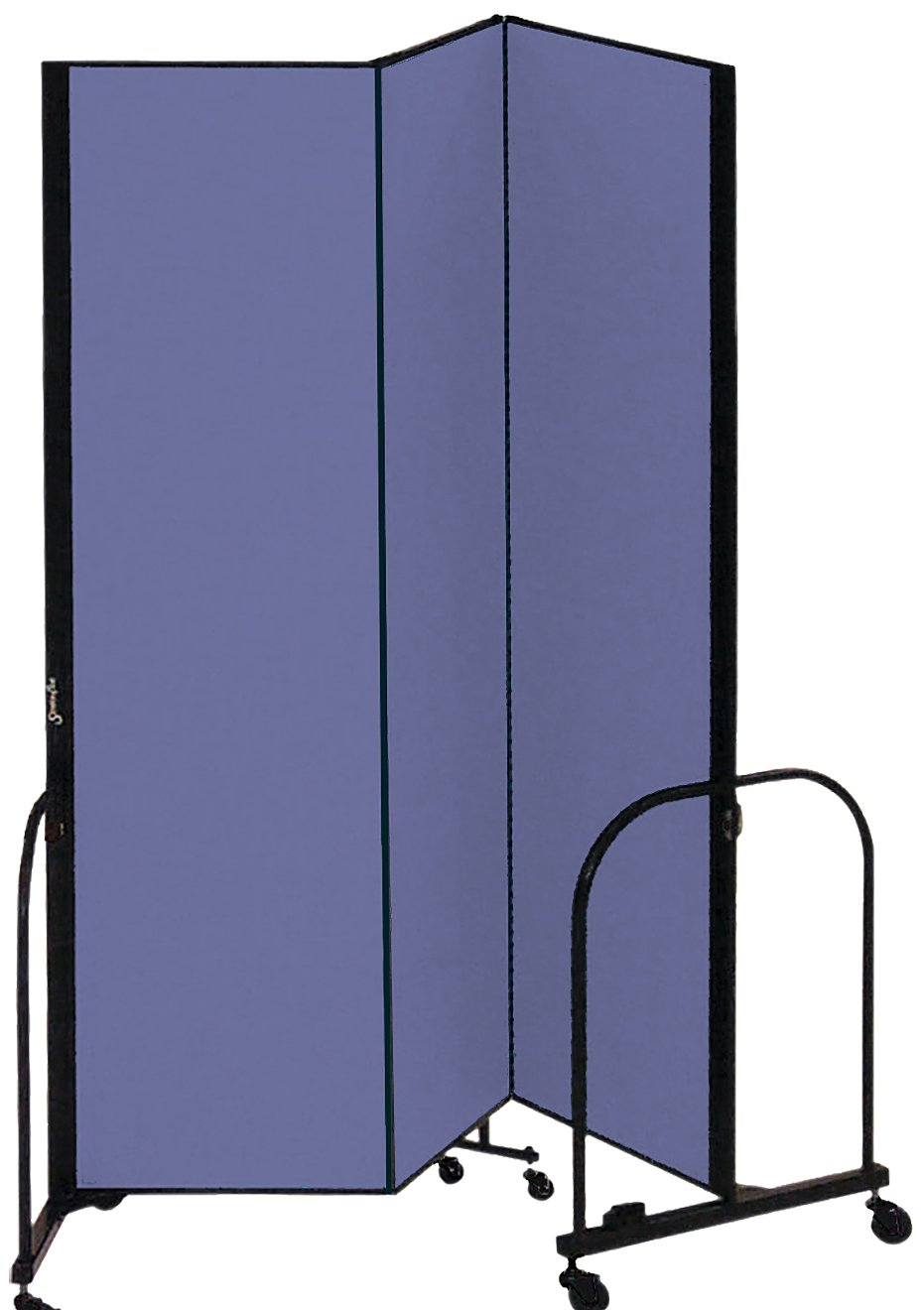 Screenflex Commercial Portable Room Divider (CFSL803-DS) 8 Feet High by 5 Feet 9 Inches Long, Designer Blue Fabric