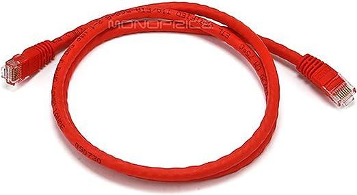 Red 3ft CAT6 Cross-Over Gigabit Ethernet RJ45 UTP Network Patch Cable