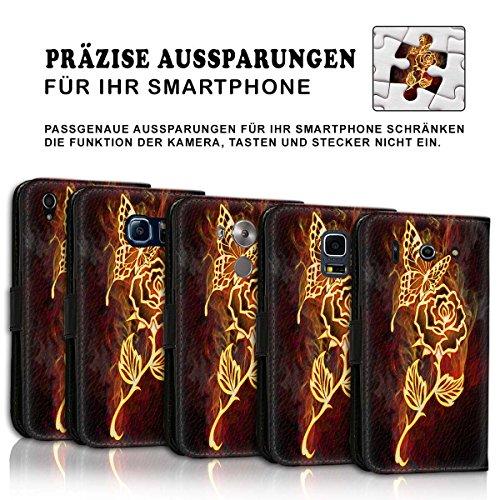Wallet Book Style Flip Handy Tasche Case Schutz Hülle Schale Motiv Etui für Apple iPhone 6 Plus / 6S Plus - Design Flip MVD420