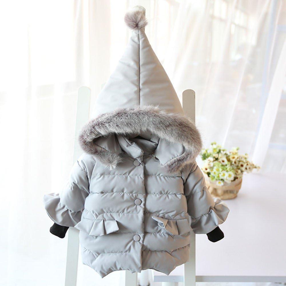 0-5 Anni Invernale Capispalla per Ragazze con Cappuccio in Cotton Caldo Leggero Addensare Antivento Giacche Imbottito Giubbotti Mbby Cappotto di Piumino Bambina