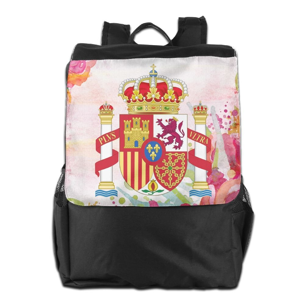 Nollm Coat Of Arms Of Spain Waterproof Backpack Travel Shoulder Bag For Men Women And Teens