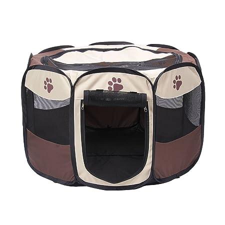 YUSENPET 28 35 Foldable Portable Pet Playpen Enclosures Exercise Pen Kennel Pet Yard 600D Oxford Cloth for Dog Cat Rabbit Puppy