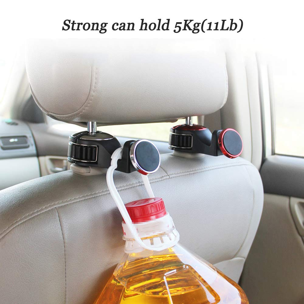 Headrest Hanger,Back Seat Car Cell Phone Holder Organizer Purse hook for car headrest,Car Headrest Hook,Headrest Hooks for Car,Back Seat Car Hooks for Purse or Grocery Bags,Tablet Holder Blue
