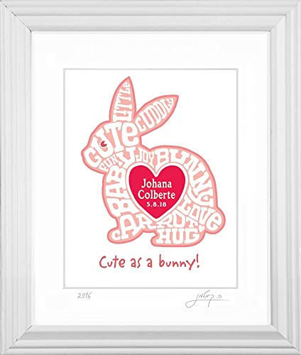Amazon.com: Personalized Baby Bunny Wall Art: Handmade