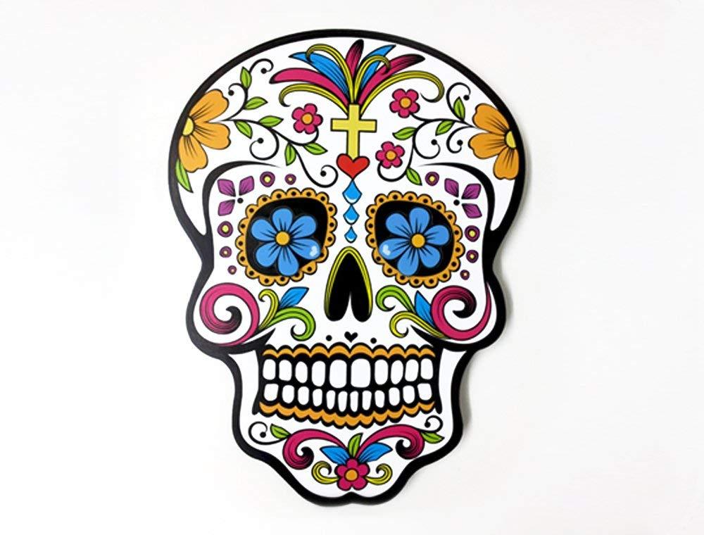 White Sugar Skull - Day of the Dead -Dia de Los Muertos - Calavera - Wall  Clock