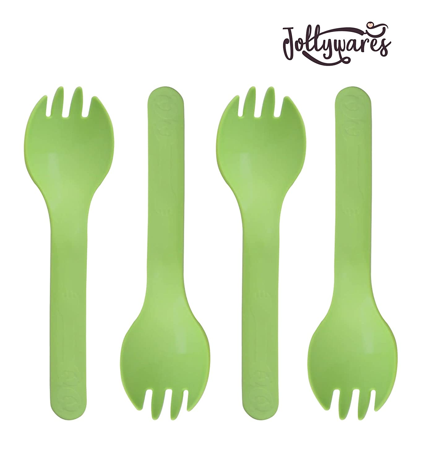 """Jollywares Colorful 5.3/"""" Premium Quality Disposable Plastic Spork 1 Pack of 50 pcs Mixed Colors"""
