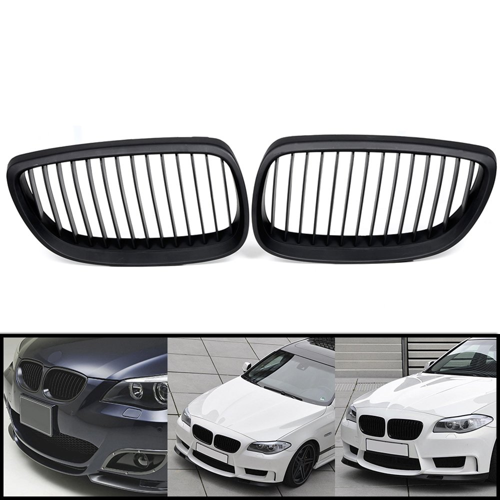 Glossy Black M-color 2pcs Front Upper Kidney Grill Grille for 2008-2013 BMW 3-Series E92 E93 M3