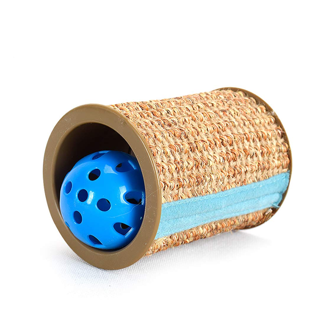 Pet Toy Cat Scratch Board Roller Sisal Built-in Bell Cylindrical Claws Grinding Device 8  10.3 cm