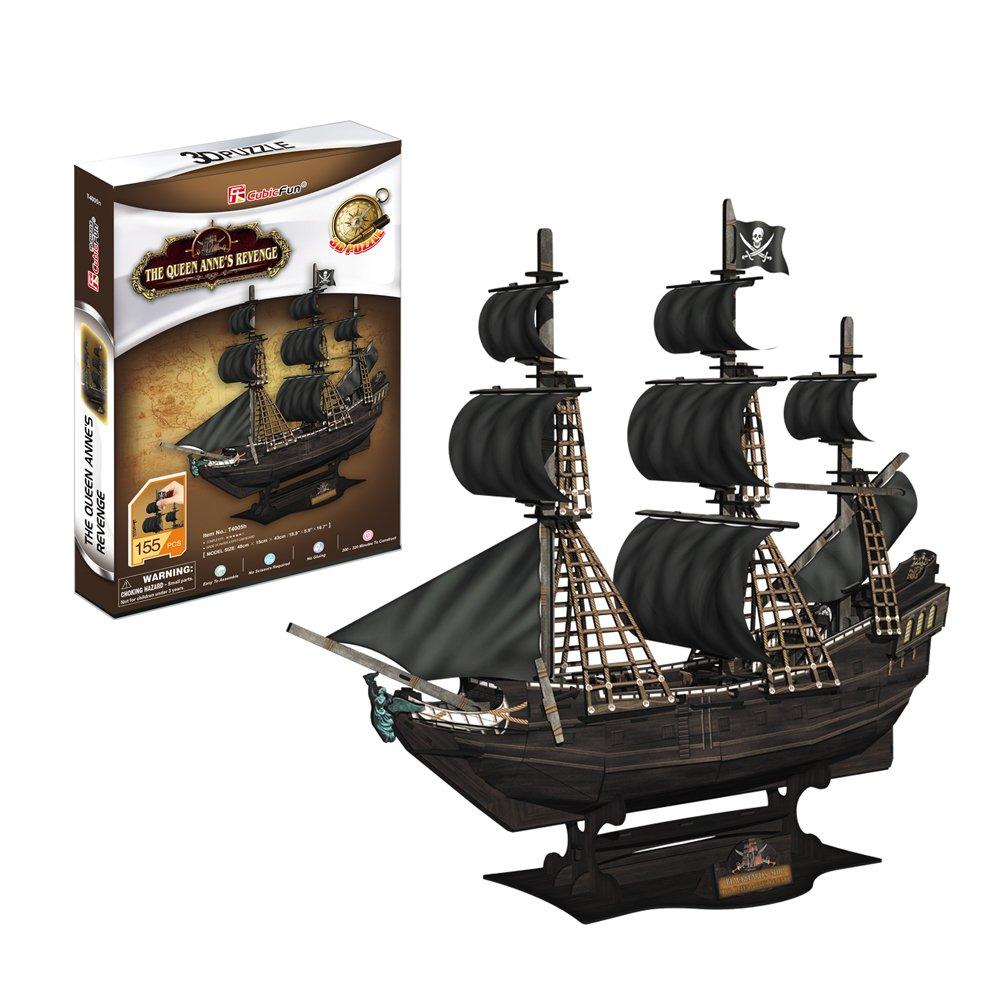 Cubic Fun T4005H - 3D Puzzle Queen Anne's Revenge, 155 Pezzi 5523226