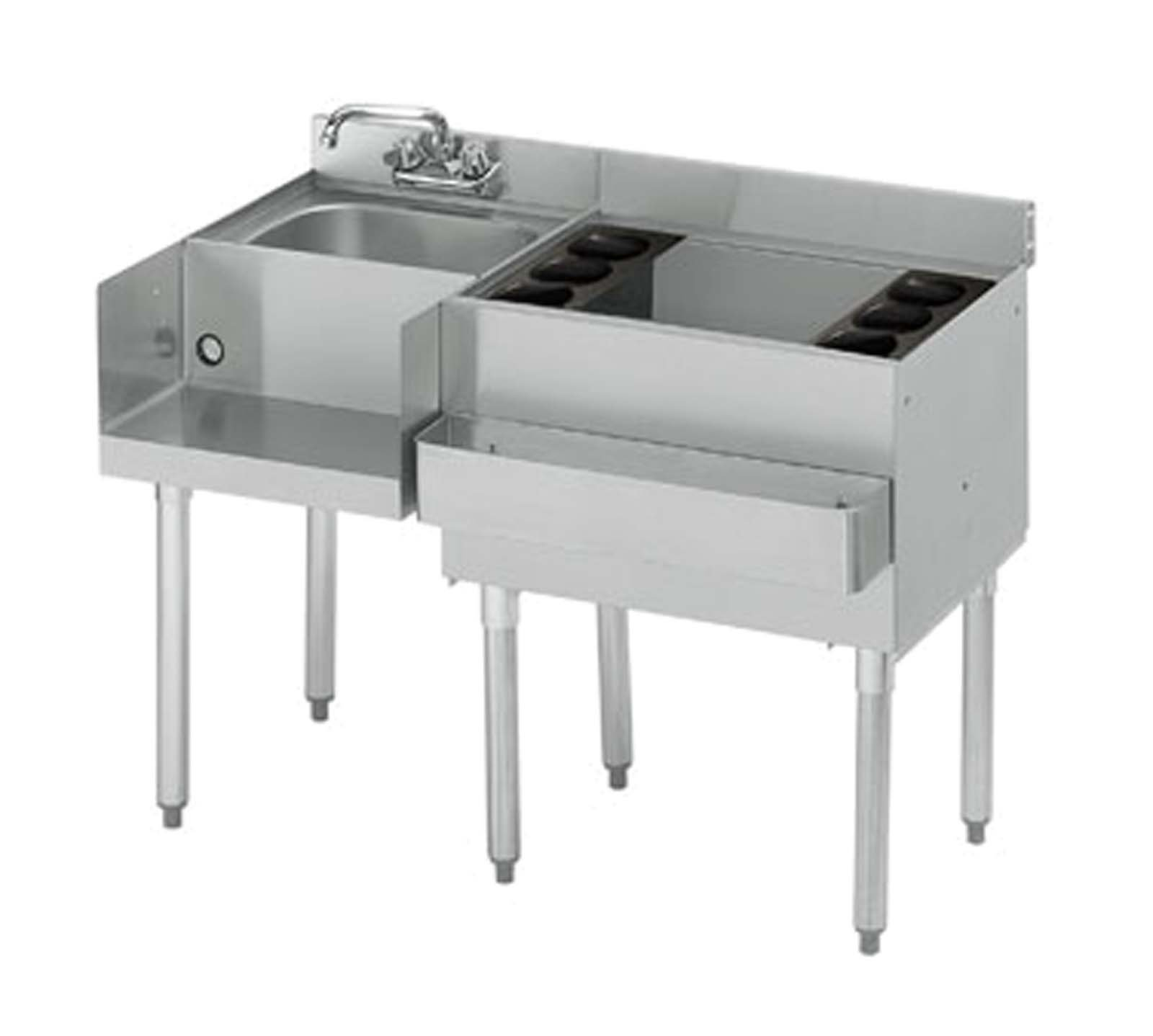 Krowne 21-W48R-7 - 2100 48'' Blender/Ice Bin Station with Cold Plate Bin on Right