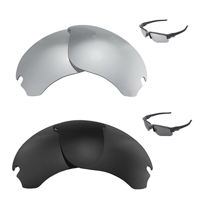 d97256e0b1 Walleva Polarized Titanium + Black Replacement Lenses For Oakley Flak Draft  Sunglasses  Amazon.ca  Clothing   Accessories