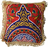 Egypt gift shops Egyptian Classic Ethnic Tribal Arabic Cairo Ramadan Decorative Decorations Decor Pillow Cushion Cloth Cover Exotic Fabric Tapestry Khayameya Tapestry Artwork Fringes Trimmings TAP023
