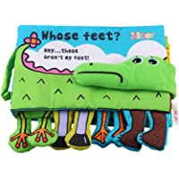 YeahiBaby Soft Books Babies Alligator Foots Early Education Toys Activity Crinkle Cloth Book Non-Toxic 1pc