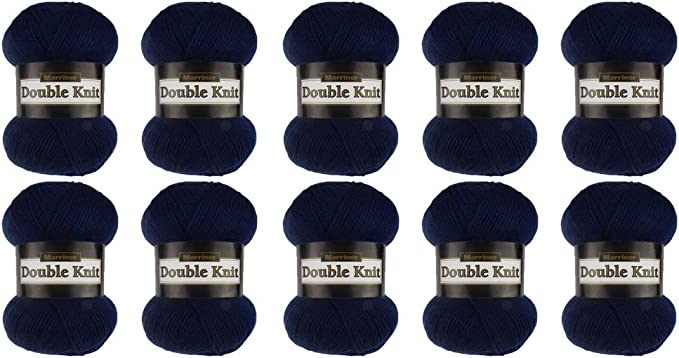 100/% Acrylic Knitting//Crochet Yarn Raspberry, 5 Ball Pack Marriner Super Soft Baby Double Knit 100g