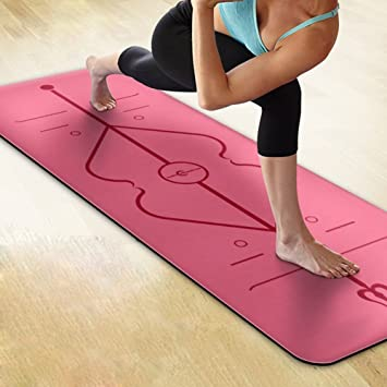 yomyray alineación líneas alfombrilla de yoga (caucho ...