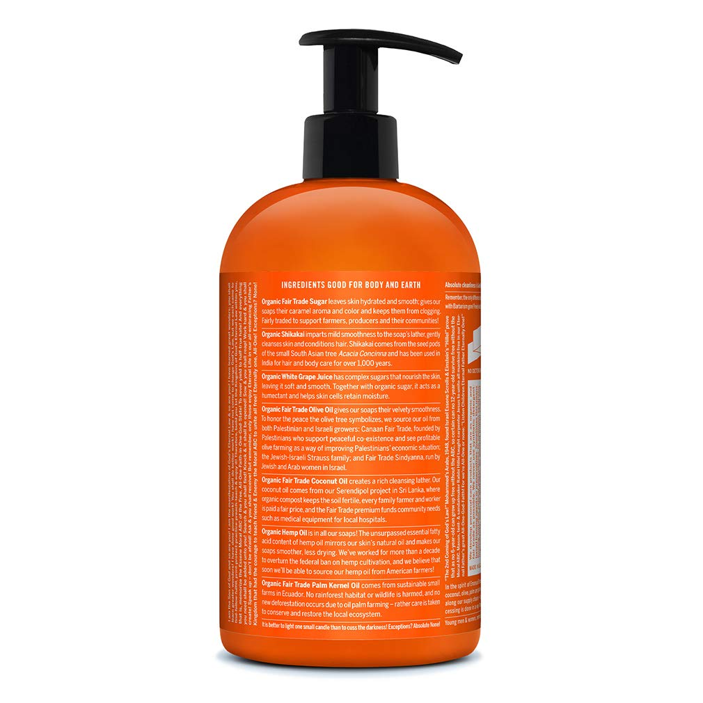Dr. Bronner s – Organic Sugar Soap Tea Tree, 24 Ounce – Made with Organic Oils, Sugar and Shikakai Powder, 4-in-1 Uses Hands, Body, Face and Hair, Cleanses, Moisturizes and Nourishes, Vegan