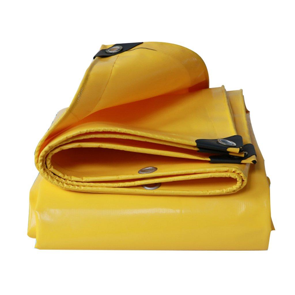 タープ テント サンプロテクションターポリン大型トラックアンチ雨布キャンバスPvc防水性防水布防水布キャノピー布屋外Thicken (Color : Yellow, Size : 2*3 m/79*118 inch) 2*3 m/79*118 inch Yellow B07KS8MG21