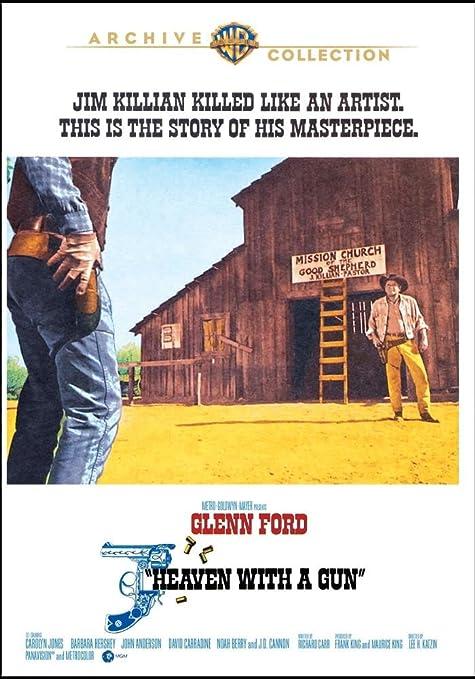 Heaven with a gun Glenn Ford western movie poster print