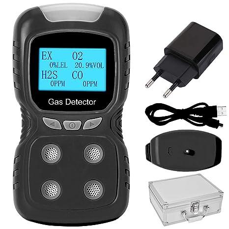 Xinwoer 4 en 1 Detector de Alarma de Seguridad Multi Gases ...