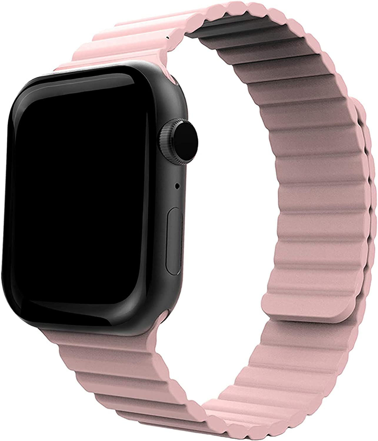 Compatible with Apple Watch Band 44mm 42mm 40mm 38mm - Enhanced Adjustable Silicone Strap with Magnetic Closure System for iWatch Series SE/6/5/4/3/2/1