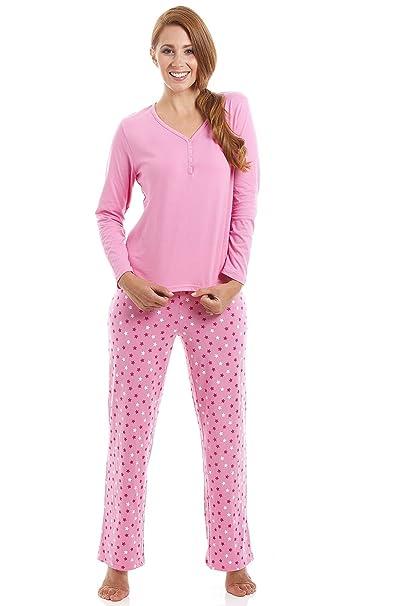 Conjunto de pijama largo - Estampado estelar - Algodón - Rosa 38/40