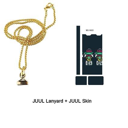 Strong Magnet Juul Necklace Juul Lanyard Chain Premium Anti-Loss Juul  Holder Pendant (1pcs Gold + 1pcs Skin)