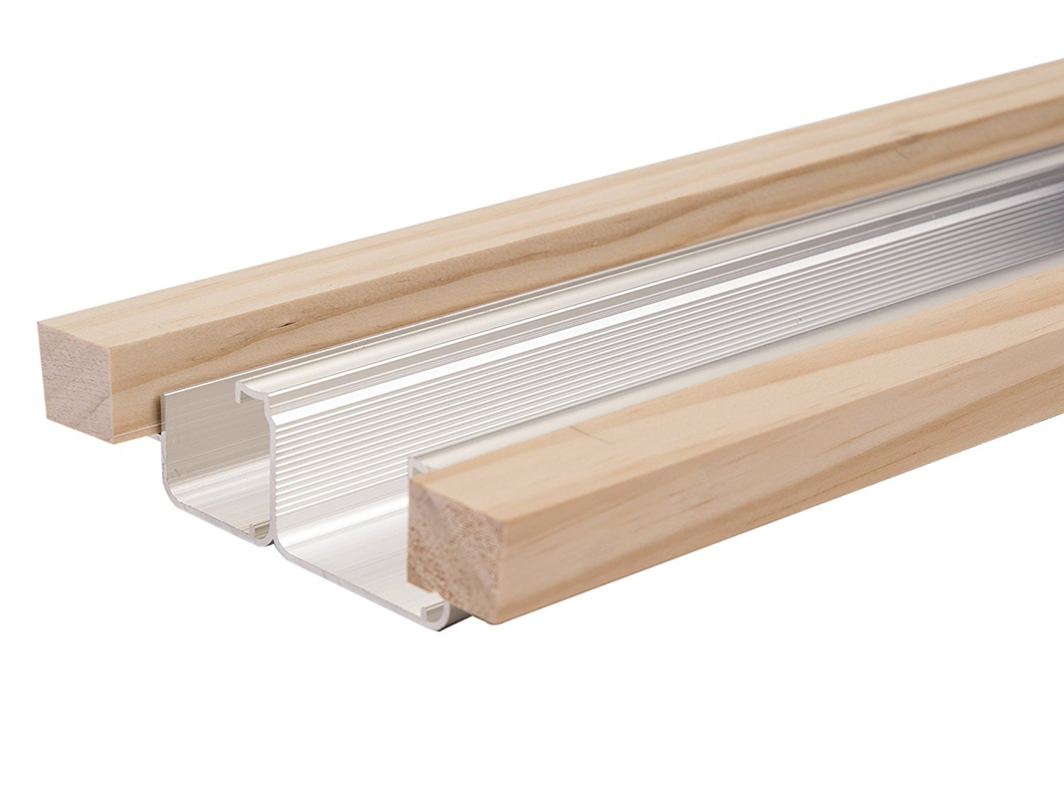 Johnson Hardware 2222 Bypass Track with Wood Header - 48''