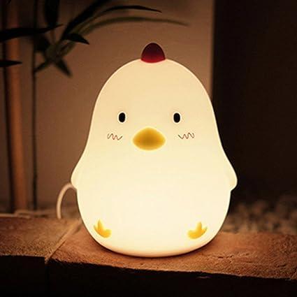LED Luz nocturna Pollito Niños silicona reloj despertador ...