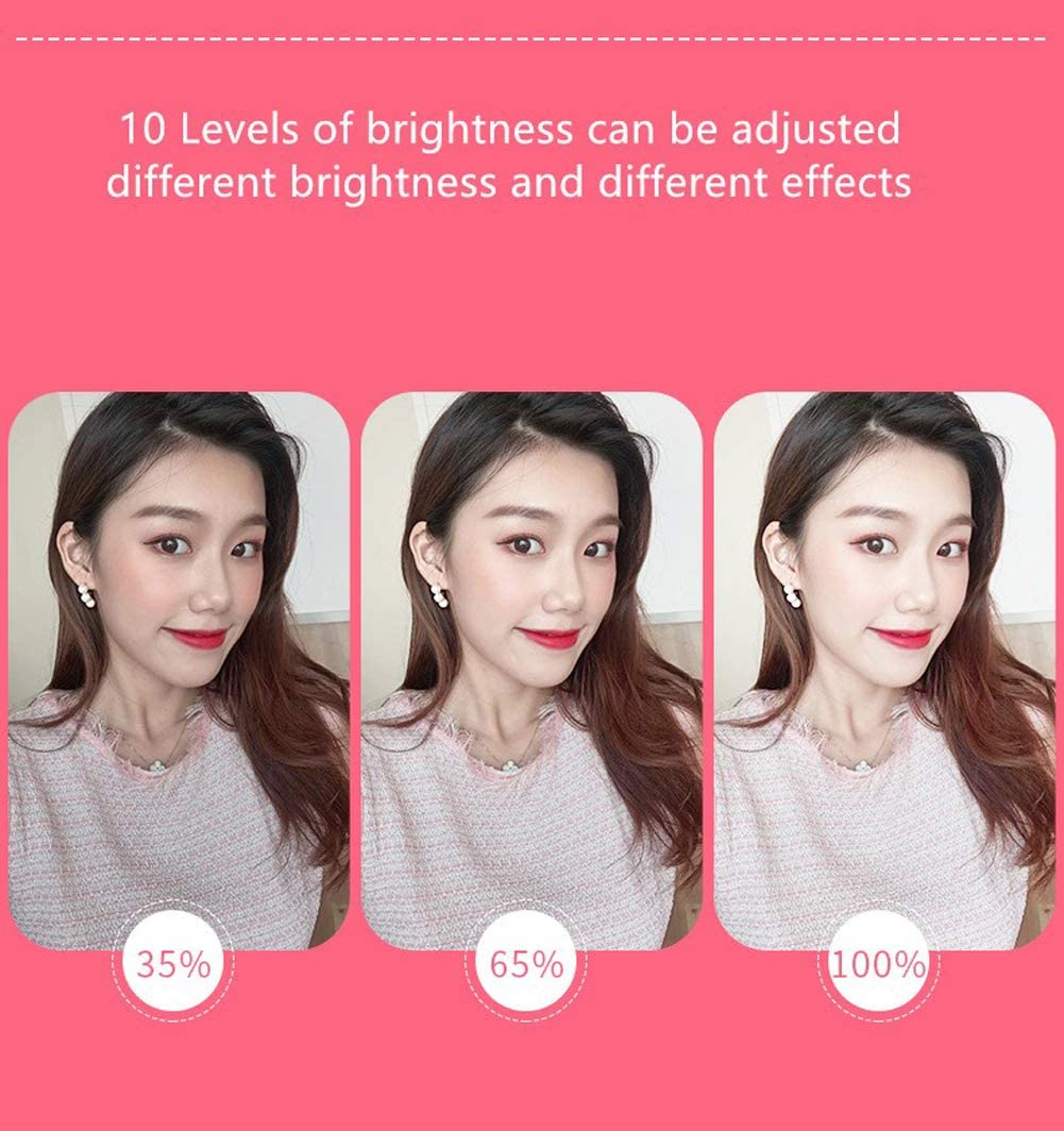 Ldab Ring Light 3 Light Modes 10 Level Light for Makeup//YouTube Video//Photography with 1.6m Bracket Foldable Brightness Adjustable