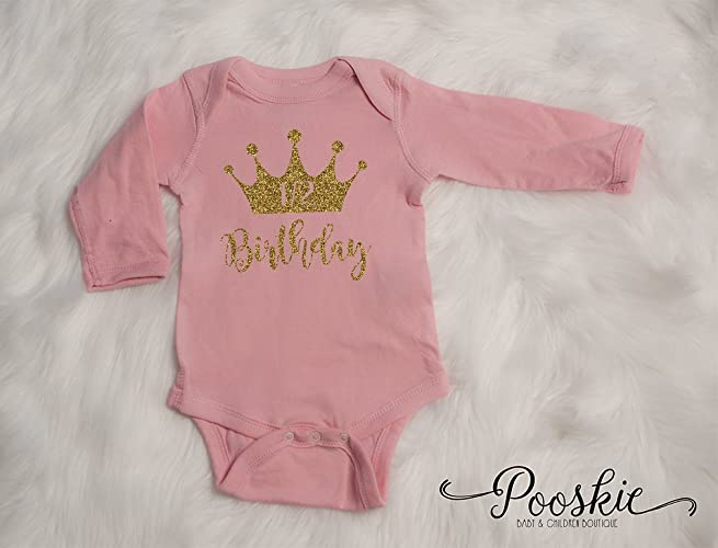 Pink 1 2 Birthday Bodysuit 6 Month Shirt Its My Outfit Half First Party