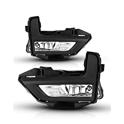Fog Lights For Nissan Rogue 2020-2020 (Not Fit Sport Model) With Clear Lens Fog Light Assembly 2PCS OEM Replacement Fog Lamps AUTOWIKI (Switch and Wiring Kit Included): Automotive