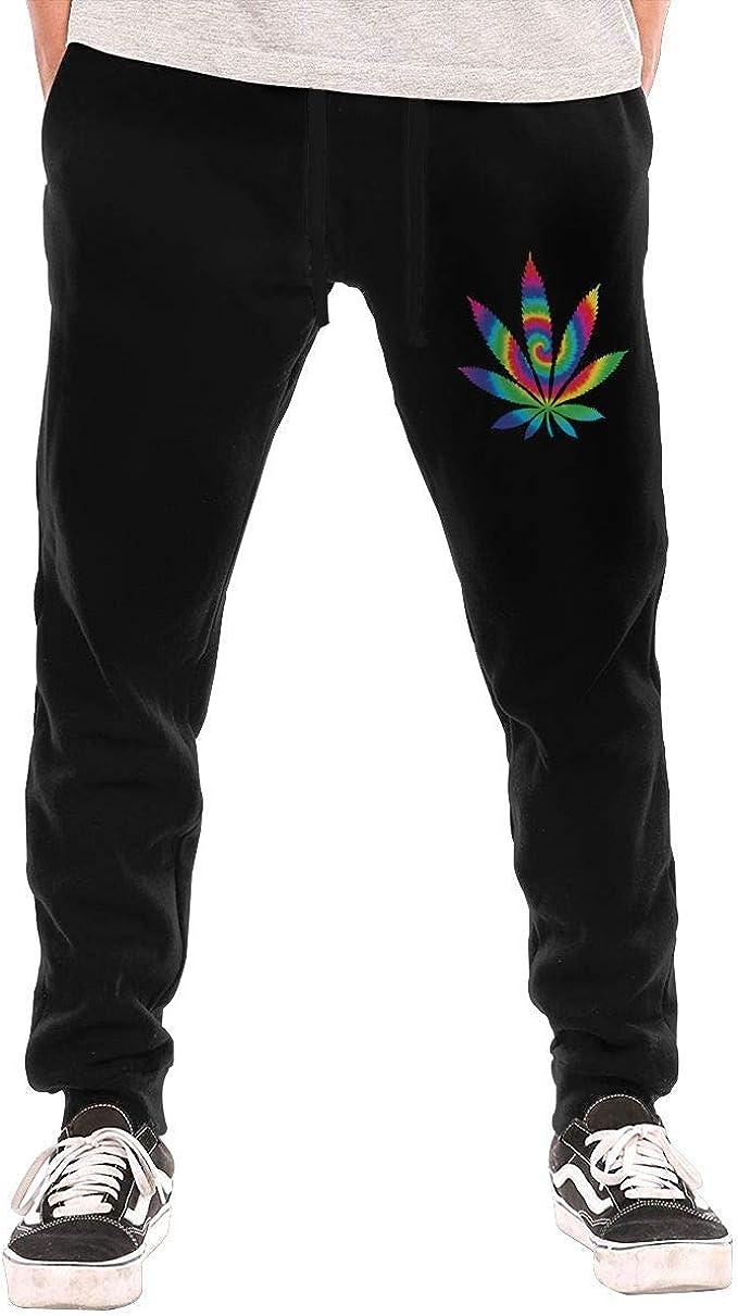 opi 90iuop Pantalones de chándal para Hombre Tie Dye Weed Athletic ...