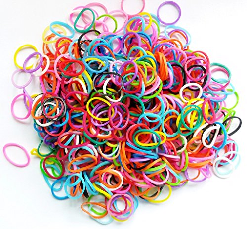 (PET SHOW Pet Rubber Bands for Doll Dog Cat Hair Bows Grooming Accessories Color Assorted Pack of 1000)